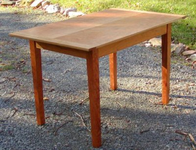 table can be stained or left in a natural color - Shaker Kitchen Table